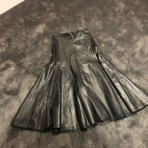 SEXY vintage leather skirt